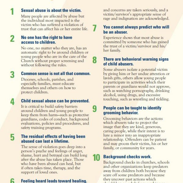Ten Tips for Protecting Children and Offering Outreach to Victims/Survivors