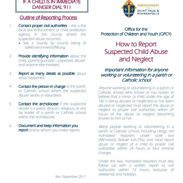 How to Report Suspected Child Abuse and Neglect – English