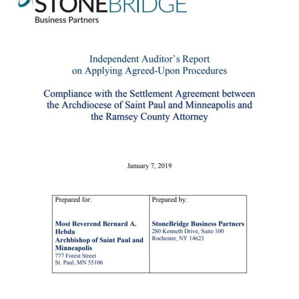 Settlement Agreement: Second Independent Auditor's Report on Applying Agreed-Upon Procedures