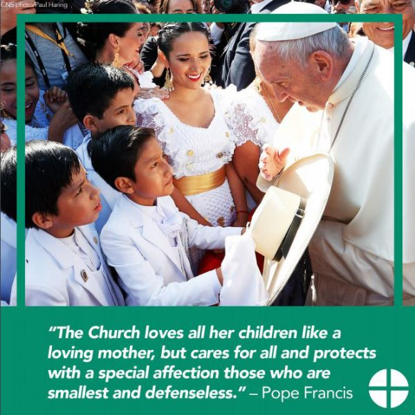 Pope Francis Social Media Image 1 - Protecting Children and Youth