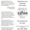 Victim/Survivor Assistance (Healing) Brochure – French (for black and white printing)