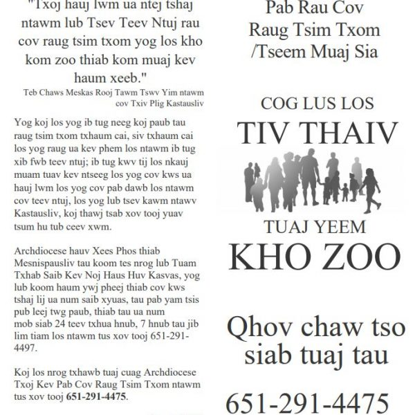 Victim/Survivor Assistance (Healing) Brochure – Hmong (for black and white printing)
