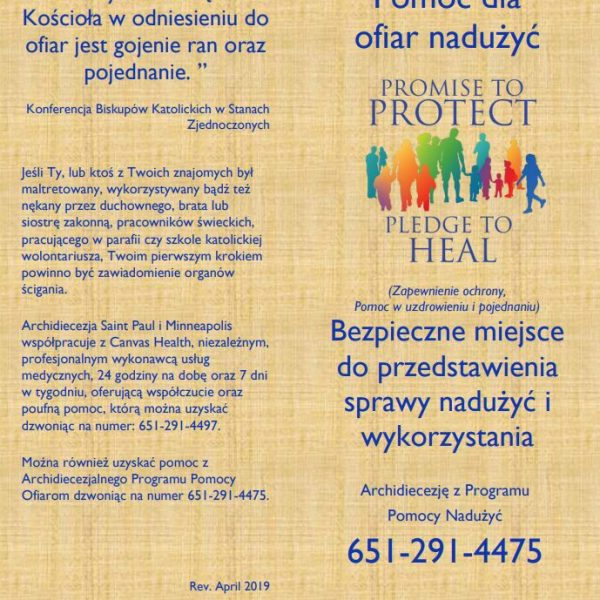 Victim/Survivor Assistance (Healing) Brochure – Polish (for color printing)