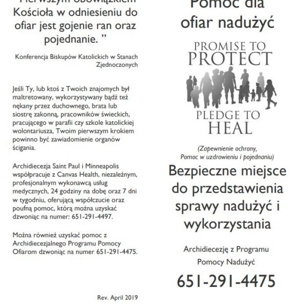 Victim/Survivor Assistance (Healing) Brochure – Polish (for black and white printing)