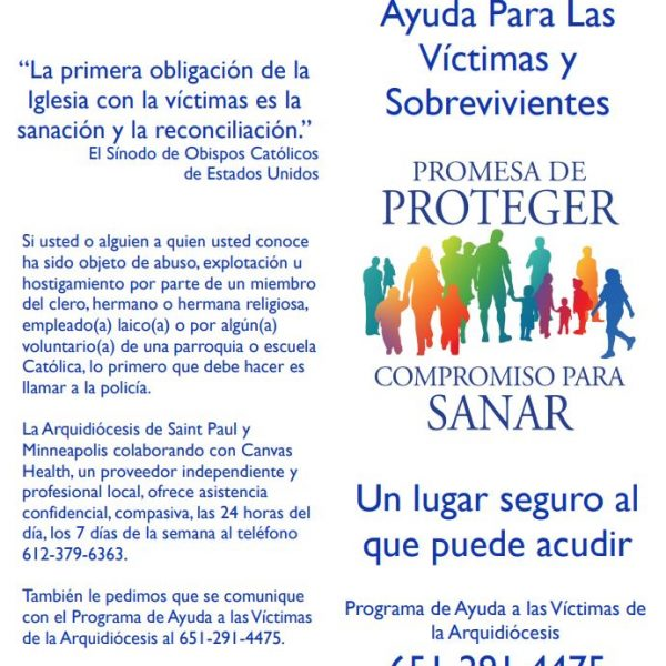 Victim/Survivor Assistance (Healing) Brochure – Spanish (for black and white printing)