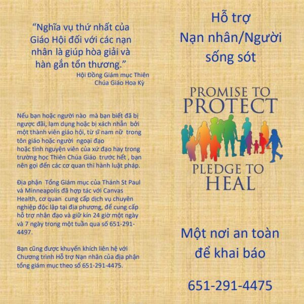 Victim/Survivor Assistance (Healing) Brochure – Vietnamese (for color printing)