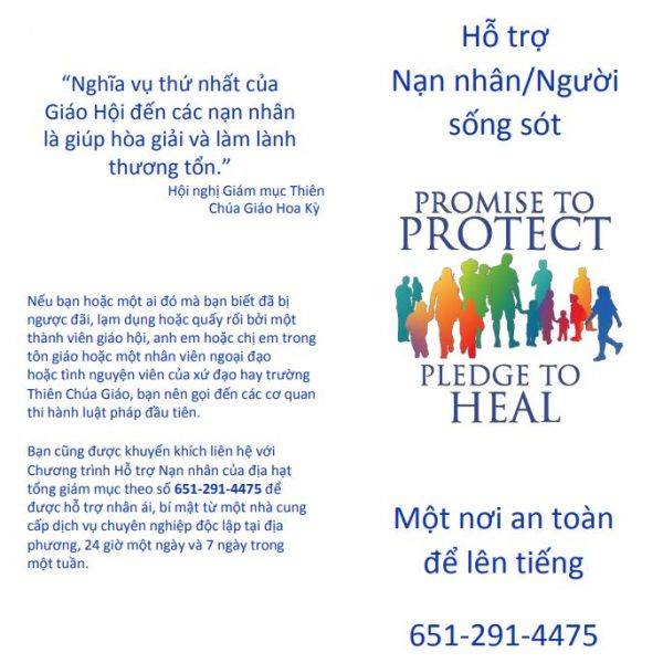 Victim/Survivor Assistance (Healing) Brochure – Vietnamese (for black and white printing)